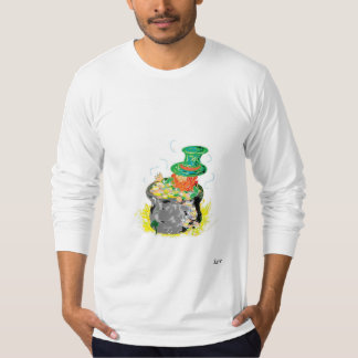 T-Shirt Leprechaun with his pot of Gold