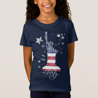 T-Shirt. Liberty Manhattan New York USA, Art T-Shirt