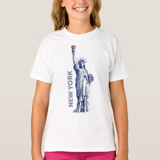 T-shirt. Liberty Statue of Liberty New York the T-Shirt