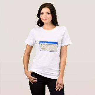 T-shirt memory error.