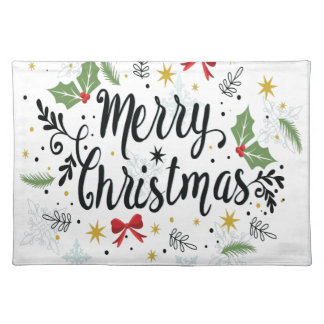T Shirt Merry Christmas-1 Placemat