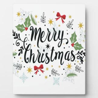 T Shirt Merry Christmas-1 Plaque