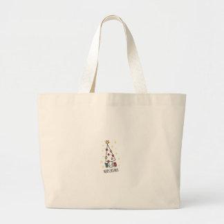 T Shirt Merry Christmas Large Tote Bag
