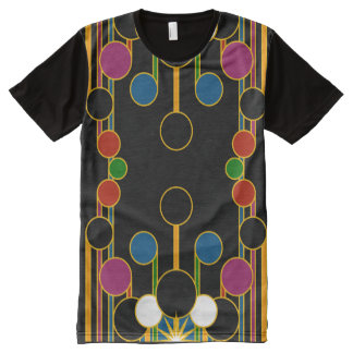 T-Shirt: Modern Geometric #4 All-Over Print T-Shirt