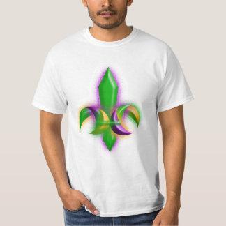 T-shirt New Orleans Fleur De Lis Mardi Gras Colors