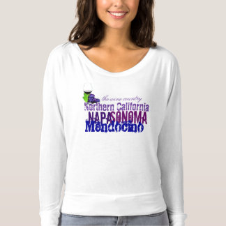 T-Shirt Northern California Napa Sonoma Mendocino