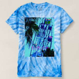 T shirt of blue ferris wheel