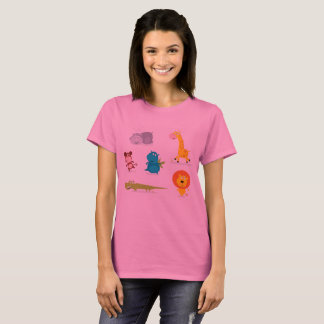 T-shirt pink with zoo Animals
