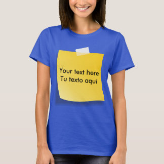 T-shirt post-it