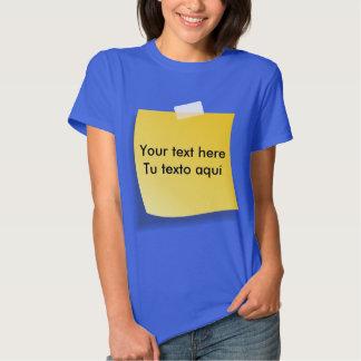 T-shirt post-it