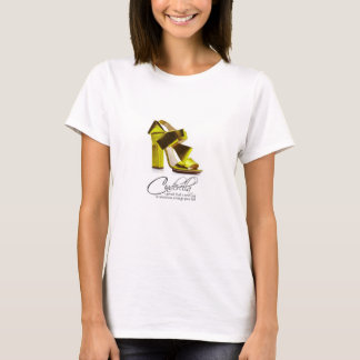 T-Shirt Princess Cinderella Lime Green Shoes Quote