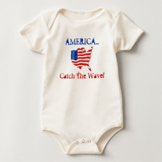 T-Shirt Promote Patriotism America Catch The Wave