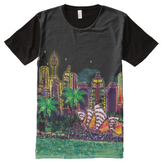 T-Shirt | Sequin Art Print Sydney Australia All-Over Print T-Shirt