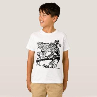 T-shirt Short sleeves Animal cute Leopard