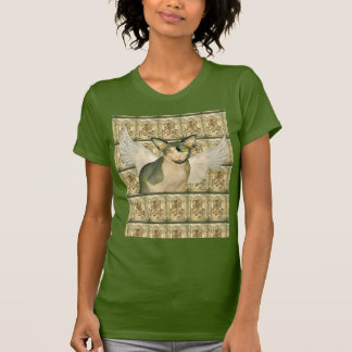 T-Shirt | Sphynx Cat with Wings Church windows