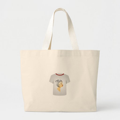 T Shirt Template- Hairstyle Tote Bag