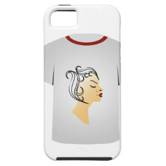 T Shirt Template- Hairstyle iPhone 5/5S Case