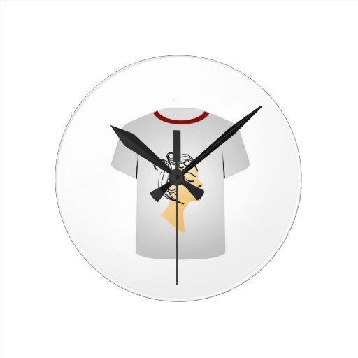 T Shirt Template- Hairstyle Round Clocks