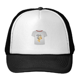 T Shirt Template- Hairstyle Trucker Hat