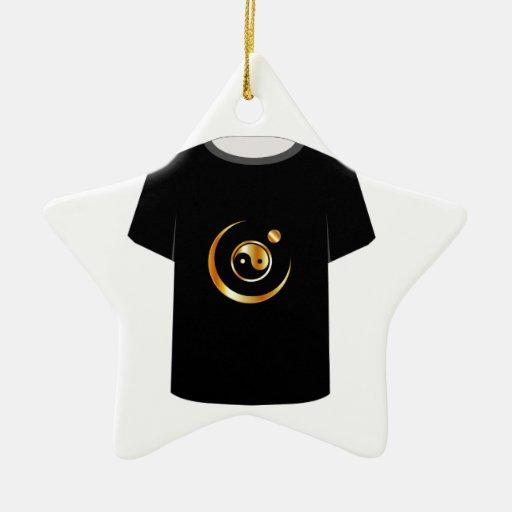 T Shirt Template- yin yang symbol Ornament
