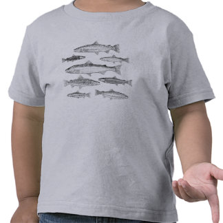 T-shirt Truites pour jeunes enfants
