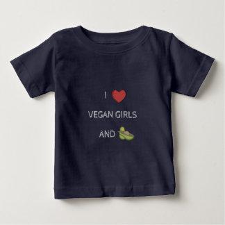 T-shirt Vegana - I LOVE VEGAN GIRLS