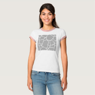 T shirt WHITE with exotic grey