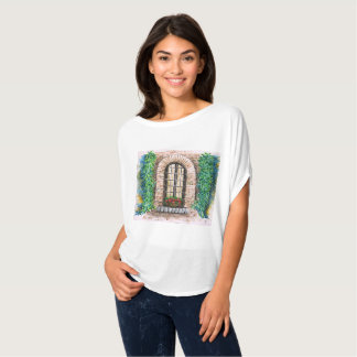 T-SHIRT - WINDOW WITH FLORES