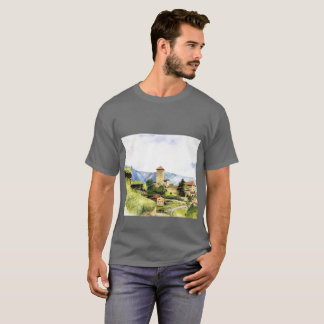 T-shirt with a painting printed on it