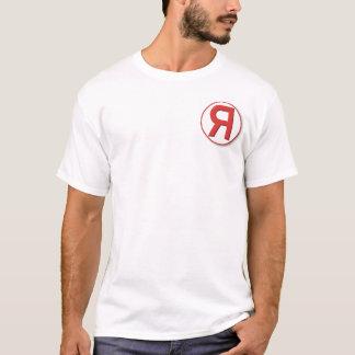 T-shirt with backwards R logo