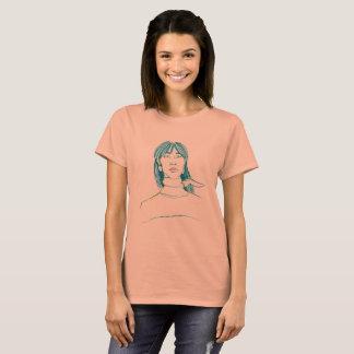 T-shirt with beautiful asian girl