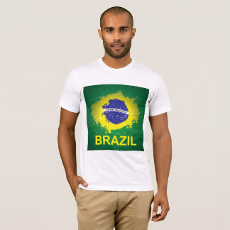 T-Shirt with Beautiful Brasilian Flag
