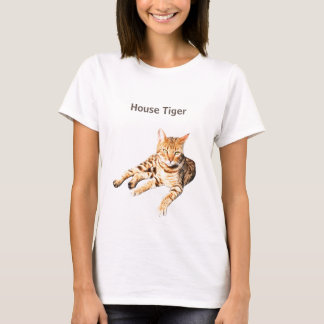 "t shirt with "" bengal cat""  for pet lovers"