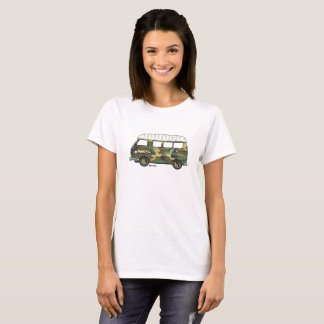 T-shirt with camouflaged Renault Estafette