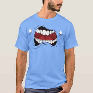 """T-shirt with cartoon mouth: """"monster mouth"""""""