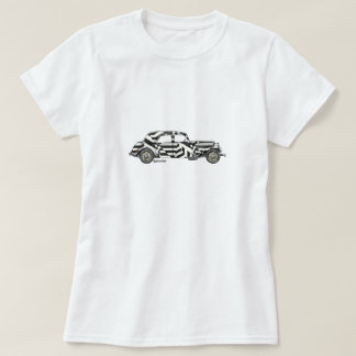 T-shirt with Citroën TA in dazzle painting