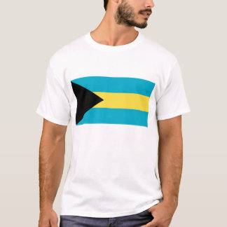 T Shirt with Flag of Bahamas
