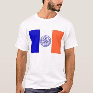 T Shirt with Flag of New York City USA