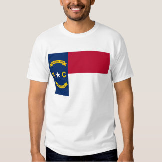 T Shirt with Flag of North Carolina State USA
