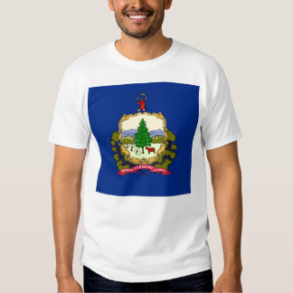 T Shirt with Flag of Vermont State USA