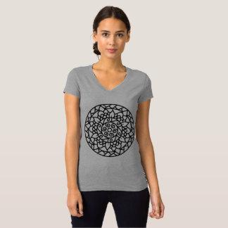 T-Shirt with hand-drawn Mandala art