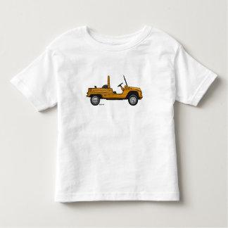 T-shirt with marks of orange Citroën Méhari