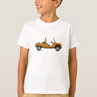 T-shirt with orange Citroën Méhari
