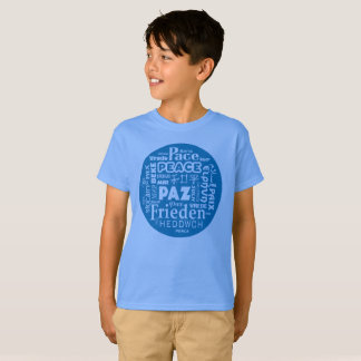 T shirt with peace in multi languages