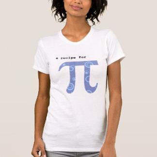 T-shirt with Pi Recipe - Math Humor