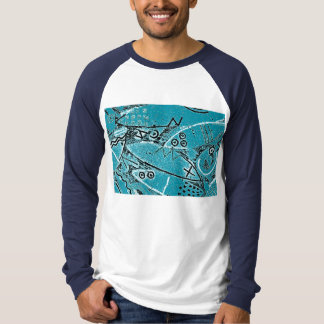 T-Shirt with Primitive Animal Design