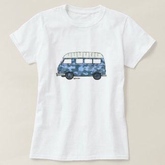 T-shirt with Renault Estafette in blue camo