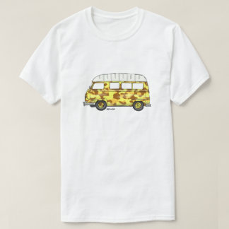 T-shirt with Renault Estafette in yellow camo