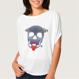 T-shirt with skull-fish skeletons motif