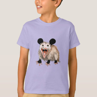 t-shirt with sweet opossum